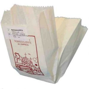 Caja Bolsas Kraft 2212x36 Blanca Churreria Decorada Pack 1